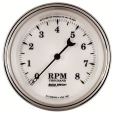 AutoMeter Products 1297 Old Tyme White II  In-Dah Electric Tachometer