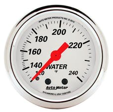 """AutoMeter Products 1332 2"""" Water Temperature Guage, 120-240`F Mechanical, Arctic White"""