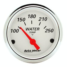 AutoMeter Products 1337 Arctic White Series Water Temperature Gauge (0-250° F, 2-1/16 in.)