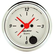 AutoMeter Products 1385 Gauge; Clock; 2 1/16in.; 12Hr; Analog; Arctic White