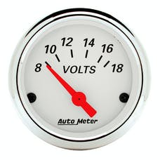 AutoMeter Products 1391 Arctic White Series Voltmeter Gauge (8-18V, 2-1/16 in.)