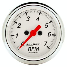 AutoMeter Products 1397 Arctic White  Electric Tachometer 2 1/16 in. 7000 RPM
