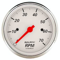 AutoMeter Products 1398 Arctic White│ Electric Tachometer 3 1/8 in. 7000 RPM