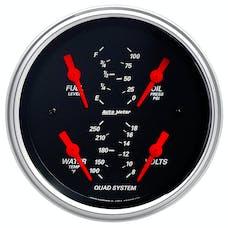 AutoMeter Products 1412 Quad Gauge  Designer Black