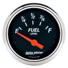 AutoMeter Products 1425 Designer Black  Fuel Level  2-1/16in Gauge 0 E/30 F  Chrome Bezel