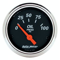 AutoMeter Products 1426 2-1/16in Oil Pressure  0-100 PSI Electric DB Chrome Bzl