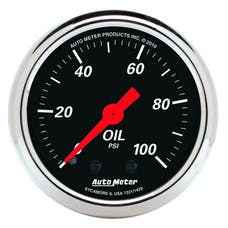 "AutoMeter Products 1429 2"" Oil Pressure Guage, 0-100 PSI, Mechanical, Designer Black"
