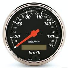 """AutoMeter Products 1487-M 3-1/8"""" Speedometer, 190 KPH, Electric, DB Chrome Bezel"""