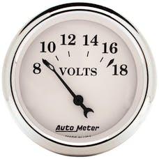 AutoMeter Products 1692 GAUGE; VOLTMETER; 2 1/16in.; 18V; ELEC; OLD TYME WHITE