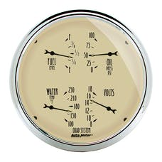 AutoMeter Products 1819 Gauge; Quad; 5in.; 0OE-90OF; Elec; Antique Beige