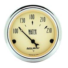AutoMeter Products 1837 Gauge; Water Temp; 2 1/16in.; 250deg.F; Elec; Antique Beige