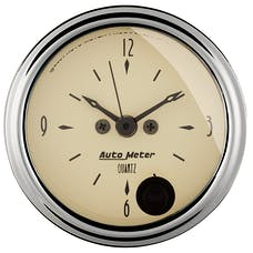 AutoMeter Products 1885 GAUGE; CLOCK; 2 1/16in.; 12HR; ANALOG; ANTIQUE BEIGE