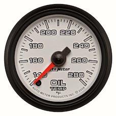 "AutoMeter Products 19540 Oil Temperature Gauge, White-Pro Cycle  2 1/16"", 140-280Γö¼Γòæ Digital Stepper M"