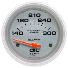 """AutoMeter Products 200765-33 Oil Temperature Gauge, Electric-Marine Silver  2 5/8"""", 140-300Γö¼ΓòæF"""
