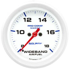 AutoMeter Products 200870 GAUGE; AIR/FUEL RATIO-WIDEBAND; ANALOG; 2 5/8in.; 8:1-18:1; STEPPER MOTOR; MARIN