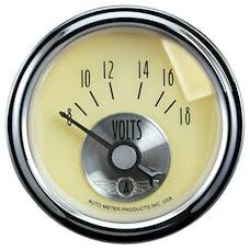 "AutoMeter Products 2092 2-1/16"" Voltmeter, 8-18, SSE, Prestige White"