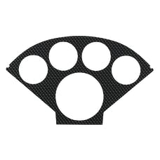 AutoMeter Products 2122 Silver Carbon Fiber Look Faceplate for 2207; Nostalgia Series