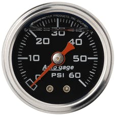 AutoMeter Products 2173 Auto Gage Series Dampened-Movement Pressure Gauge (Black, 0-60 PSI, 1-1/2 in.)