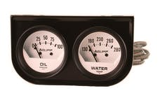AutoMeter Products 2323 2 Gauge Console  Oil/Water