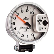 """AutoMeter Products 233907 5"""" Tach 10,000 RPM AG Memory, Silver"""