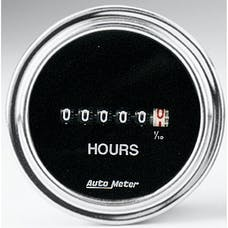 AutoMeter Products 2587 Gauge; Hourmeter; 2 1/16in.; 100k Hours; Electric (8V-32v); Traditional Chrome