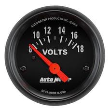 AutoMeter Products 2645 Gauge; Voltmeter; 2 1/16in.; 18V; Elec; Z-Series
