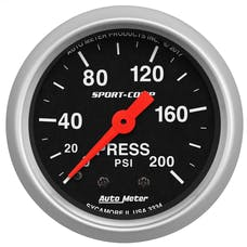 """AutoMeter Products 3334 Air Pressure Gauge 2 1/16"""", 200psi, Mechanical, Sport-Comp"""