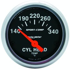 AutoMeter Products 3336 Cyl Head Temp  140-340 F