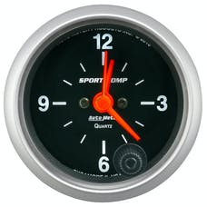 "AutoMeter Products 3385 Sport-Comp Clock, 2 1/16"", 12hr, Analog"