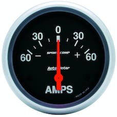 AutoMeter Products 3586 Gauge; Ammeter; 2 5/8in.; 60A; Electric; Sport-Comp