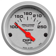 AutoMeter Products 4349 Gauge; Differential Temp; 2 1/16in.; 100-250deg.F; Electric; Ultra-Lite