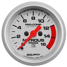 AutoMeter Products 4374 Gauge; Nitrous Pressure; 2 1/16in.; 1600psi; Digital Stepper Motor; Ultra-Lite