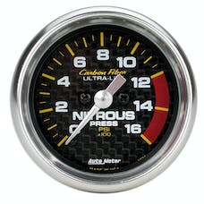 AutoMeter Products 4774 Gauge; Nitrous Pressure; 2 1/16in.; 1600psi; Digital Stepper Motor; Carbon Fiber