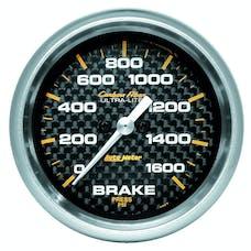 AutoMeter Products 4867 Gauge; Brake Pressure; 2 5/8in.; 1600psi; Digital Stepper Motor; Carbon Fiber