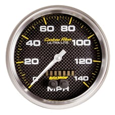 AutoMeter Products 4881 Speedometer Gauge, 5in, 140mph, GPS, Carbon Fiber