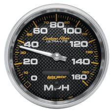 AutoMeter Products 4889 GAUGE; SPEEDOMETER; 5in.; 160MPH; ELEC. PROGRAMMABLE; CARBON FIBER