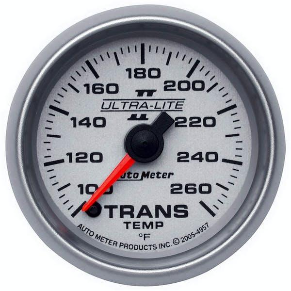 AutoMeter Products 4957 Gauge; Transmission Temp; 2 1/16in.; 100-260deg.F; Digital Stepper Motor; Ultra-