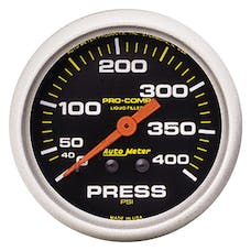 AutoMeter Products 5424 GAUGE; PRESSURE; 2 5/8in.; 400PSI; LIQUID FILLED MECH; PRO-COMP
