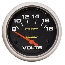 AutoMeter Products 5492 Voltmeter  8-18 Volts