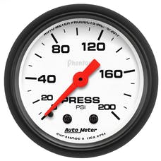 """AutoMeter Products 5734 Air Pressure Gauge 2 1/16"""", 200psi, Mechanical, Phamtom"""