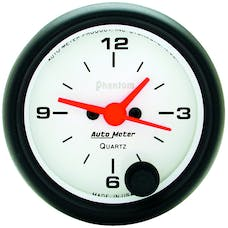 AutoMeter Products 5785 GAUGE; CLOCK; 2 1/16in.; 12HR; ANALOG; PHANTOM