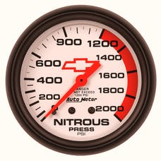 "AutoMeter Products 5828-00406 2-5/8"" Nitrous 0 2000 PSI Mech, GM"