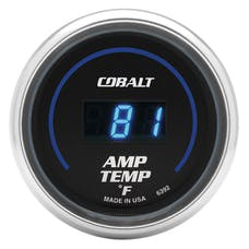 AutoMeter Products 6392 Gauge; Stereo Amp Temperature; 2 1/16in.; 250deg.F; Digital; Cobalt