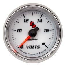 AutoMeter Products 7191 Gauge; Voltmeter; 2 1/16in.; 18V; Digital Stepper Motor; C2