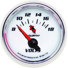 AutoMeter Products 7192 Gauge; Voltmeter; 2 1/16in.; 18V; Electric; C2
