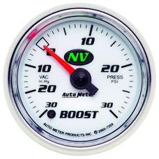 AutoMeter Products 7359 Gauge; Vac/Boost; 2 1/16in.; 30inHg-30psi; Digital Stepper Motor; NV