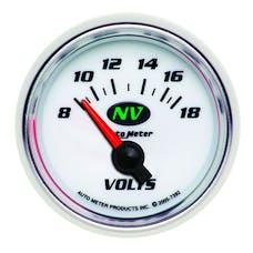 AutoMeter Products 7392 Gauge; Voltmeter; 2 1/16in.; 18V; Electric; NV