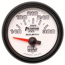 AutoMeter Products 7548 Gauge; Oil Temp; 2 1/16in.; 140-300deg.F; Electric; Phantom II
