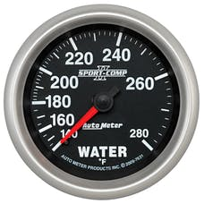 AutoMeter Products 7631 Sport-Comp II 2-5/8in Water Temp, 140- 280F, Mech
