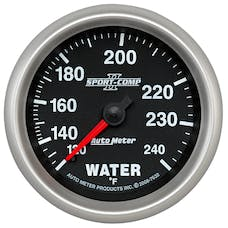 AutoMeter Products 7632 Sport-Comp II 2-5/8in Water Temp, 120- 240F, Mech